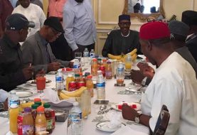 Same Back Soon Message Sent As Ailing President Buhari Meets With Govs In London