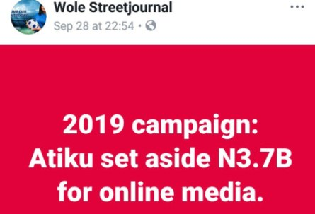 "How Talks Of Atiku's  ""Vast""  Campaign Fund Are Luring ""Supporters"" To His Side In Large Numbers"