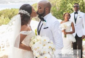 All The Interest Generating Pictures From Banky W, Adesuwa Etomi's White Wedding