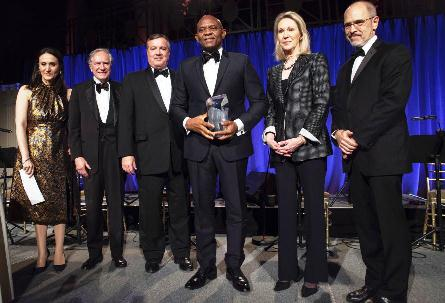 "'I Am Impressed With Tony's Philanthropic Initiatives' Ex US President Bush Declares As Elumelu Is Honoured With Prestigeous ""Eisenhower Award"""