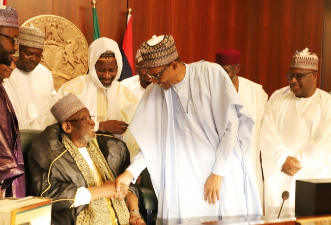 President Buhari Receives High Power Delegation Over Passage Of Khalifa Isyaku Rabiu