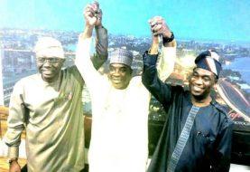 King Of Fuji Music, KWAM1 Donates Campaign Vehicles In Meeting With Lagos Guber APC Guber Candidate, Sanwoolu & Dep Hamzat