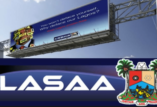 """Our Story""  LASAA Responds To Allegation Of Destroying Agbaje's Campaign Billboards"