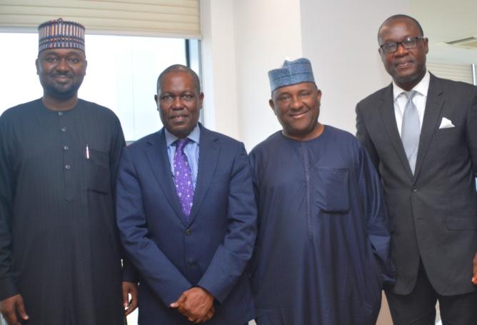 EcoBank CEO Ade Adeyemi, Management Team Visit BUA Chairman Rabiu