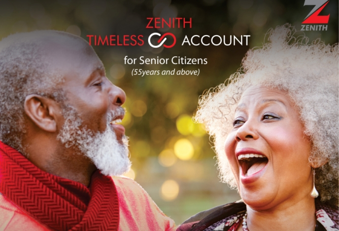 Zenith Bank Introduces Free Banking For Senior Citizens